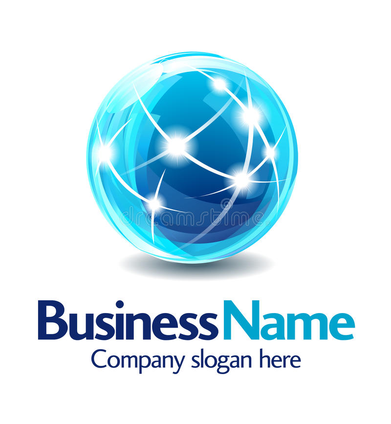 logo för design för affär 3d stock illustrationer