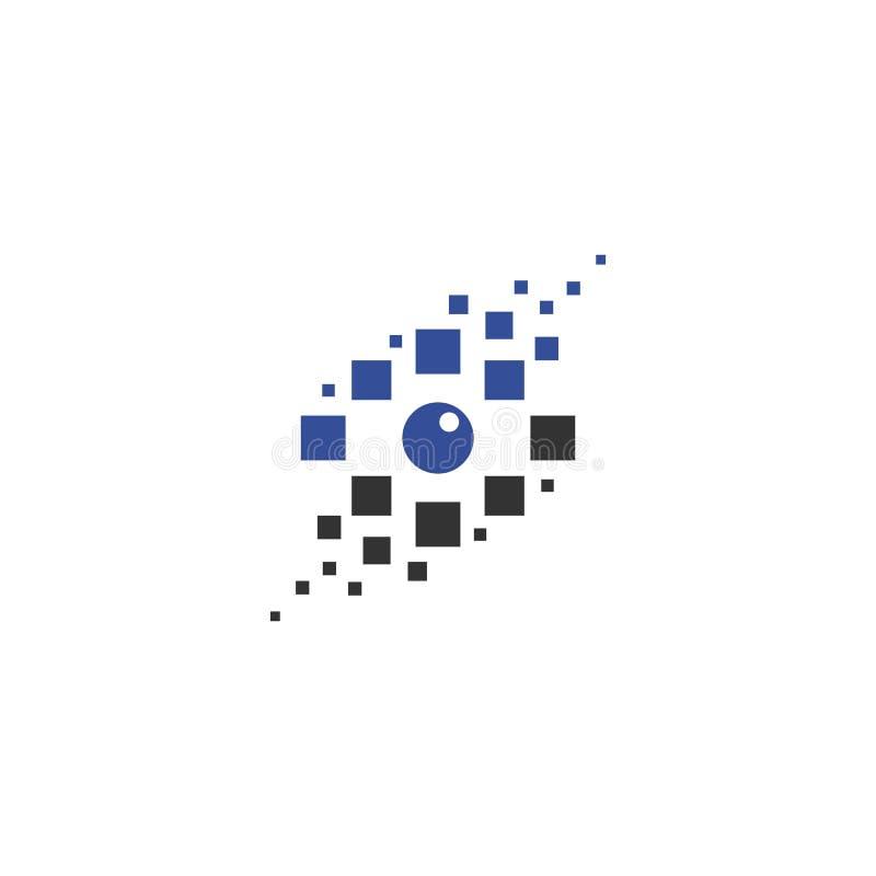 Logo för Digital ögonvektor vektor illustrationer