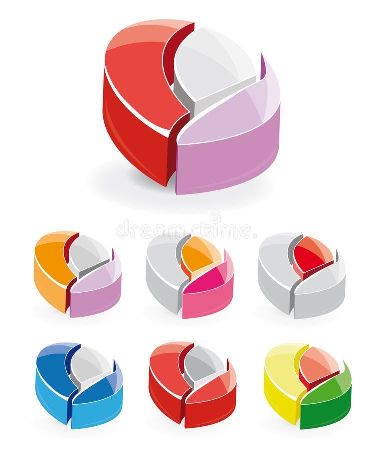 logo för element 3d fotografering för bildbyråer