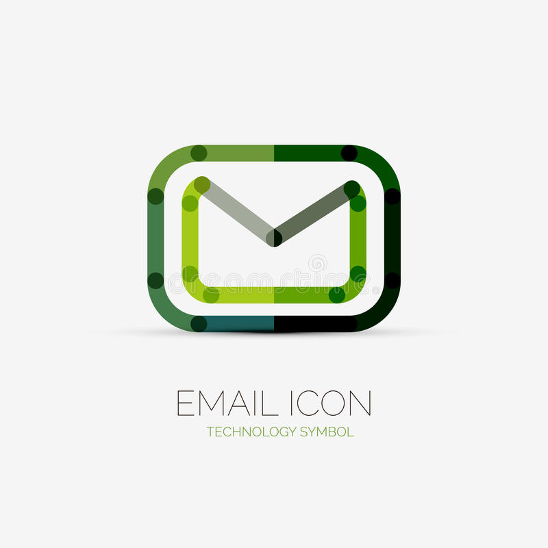 Logo för Emailsymbolsföretag, affärsidé vektor illustrationer