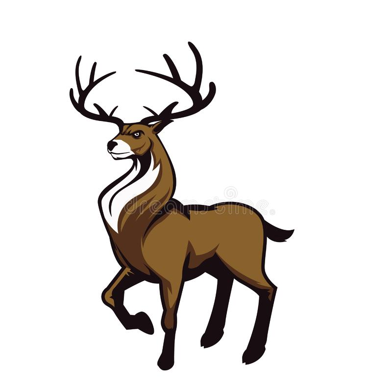 Logo för emblem för ångalokomotiv arkivfoton