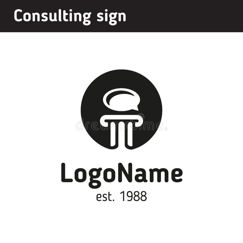 Logo för en konsultföretag stock illustrationer