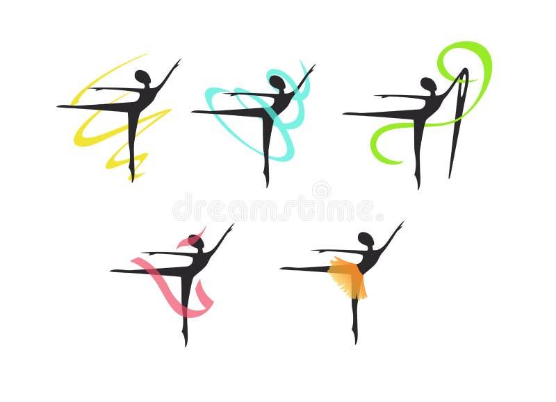 Logo för en sy studio, klänningar för ballerina royaltyfri fotografi