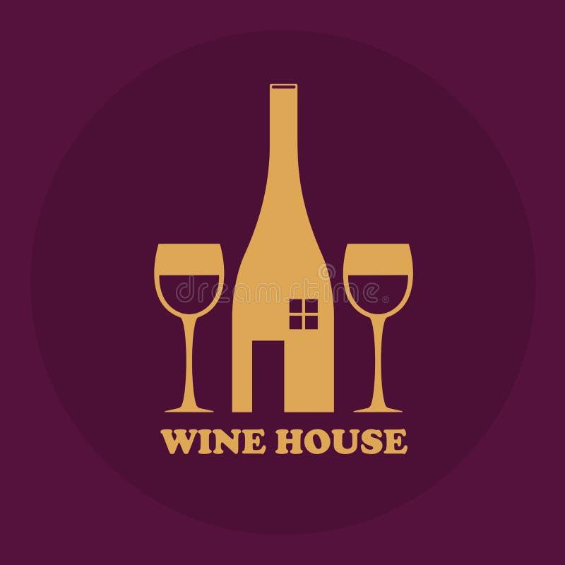 Logo för ett vinhus royaltyfri illustrationer