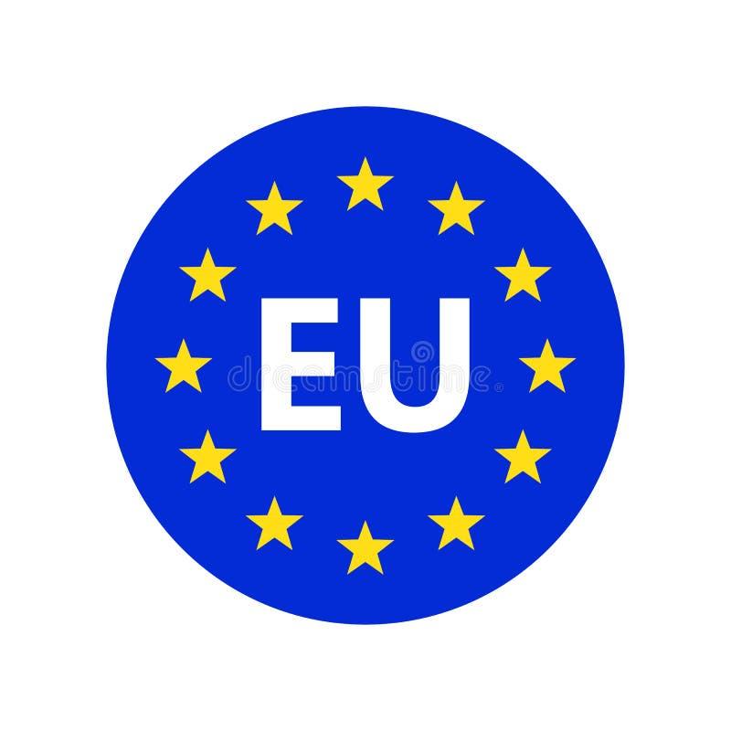 Logo för europeisk union också vektor för coreldrawillustration royaltyfri illustrationer