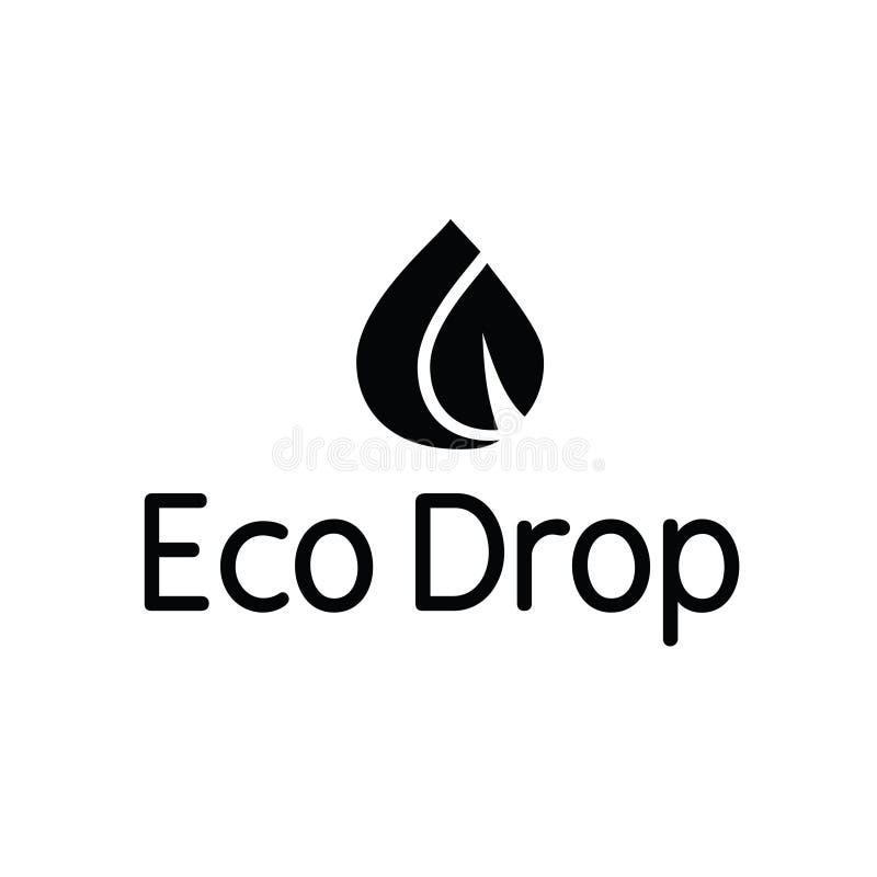 Logo för färgstänk för blad för liten droppe för Eco vattendroppe arkivbilder