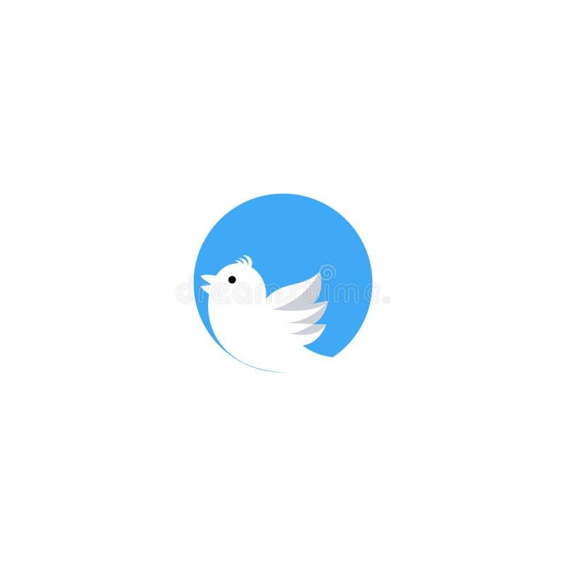 Logo för fågelsymbolsdesign - vektor vektor illustrationer