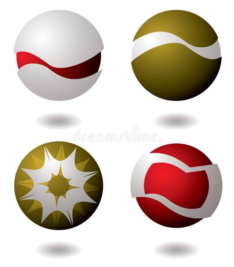 logo för företag fyra royaltyfri illustrationer