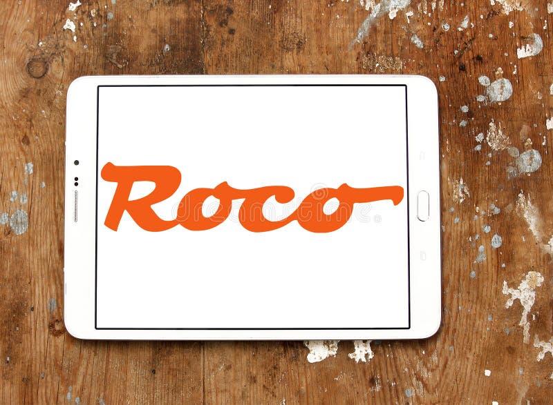 Logo för företag för järnväg utrustning för Roco modell arkivfoto