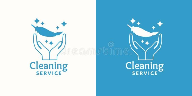 Logo för företagslokalvårdservice vektor illustrationer
