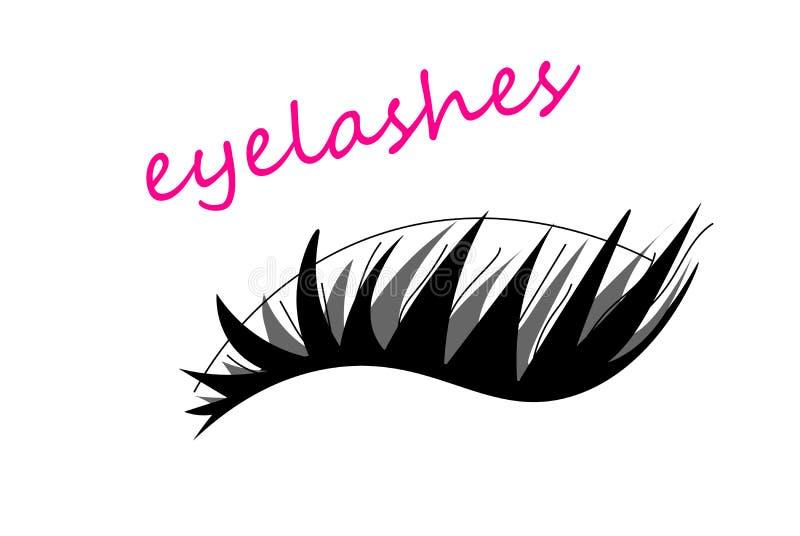 Logo för förlängning för rengöringsduksvartögonfrans på vit bakgrund ocks? vektor f?r coreldrawillustration royaltyfri illustrationer