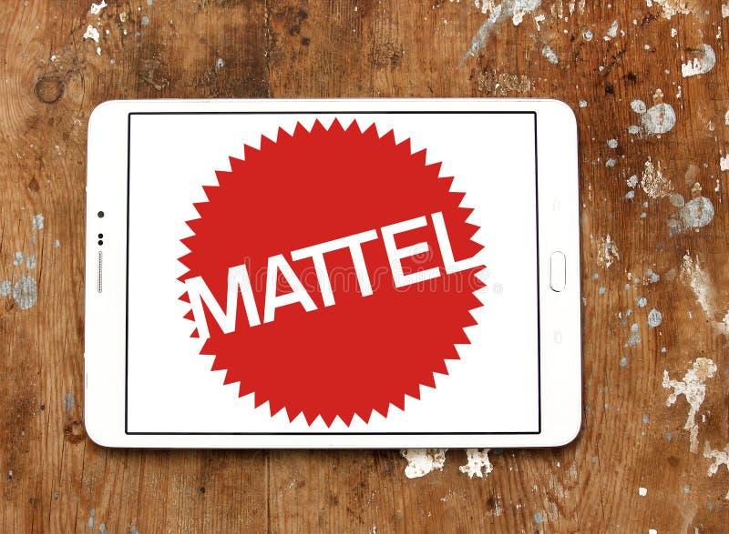 Logo för fabriks- företag för Mattel leksak arkivbild