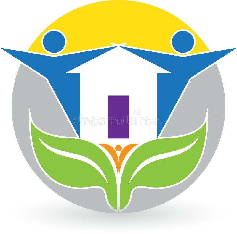 Logo för familjhem stock illustrationer