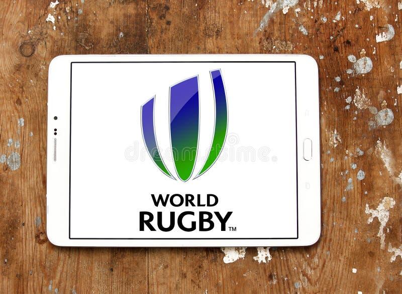 Logo för federation för världsrugbysport arkivbilder