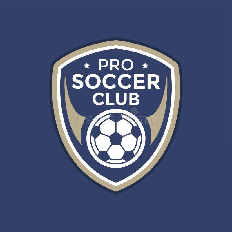 Logo för fotbollfotbollemblem vektor illustrationer