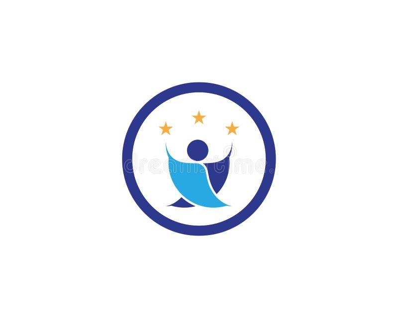 Logo för framgångfolksymbol royaltyfri illustrationer