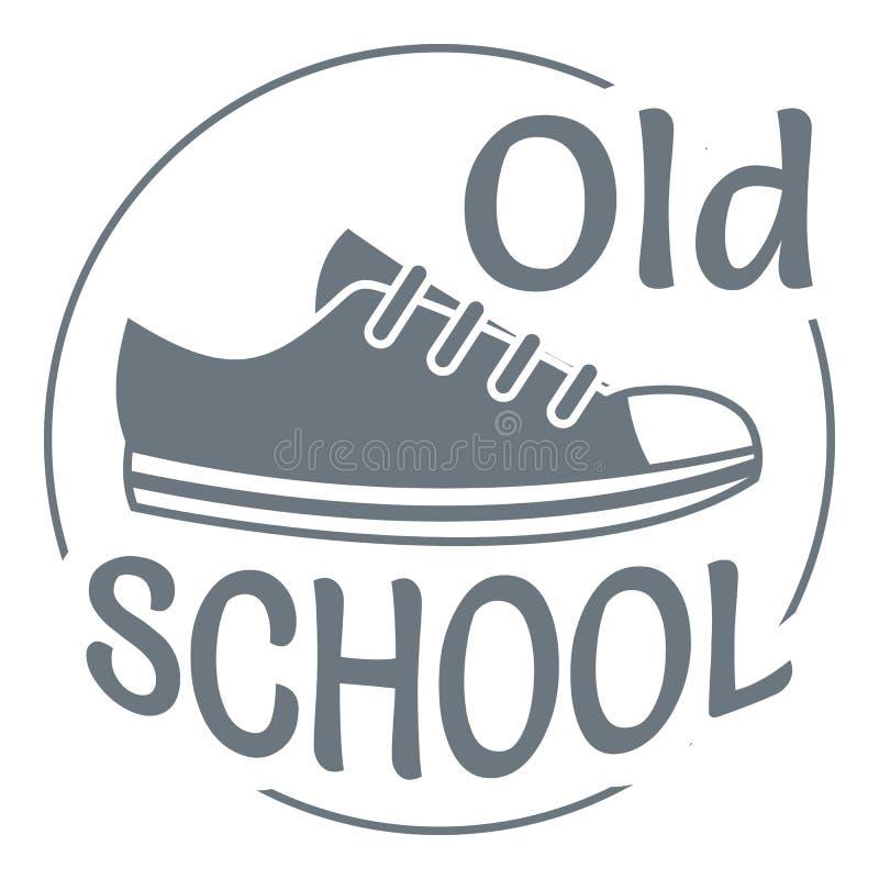 Logo för gammal skola, enkel stil vektor illustrationer