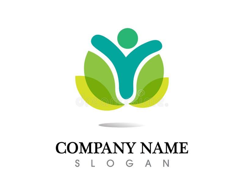 Logo för gemenskapfolkomsorg och symbolmall royaltyfri bild
