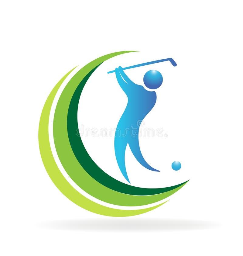 Logo för golfspelare royaltyfri illustrationer