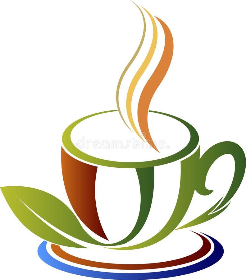 Logo för grönt te stock illustrationer