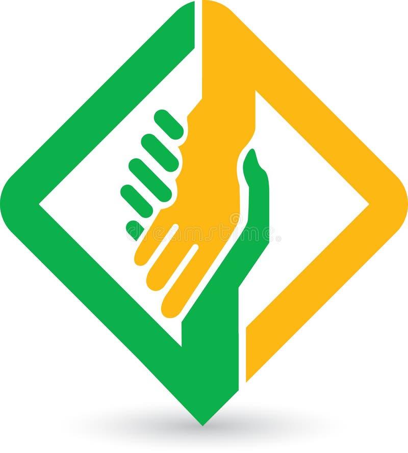 Logo för hjälpande händer royaltyfri illustrationer