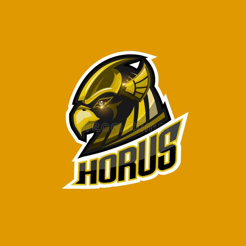 Logo för Horus huvudesport vektor illustrationer