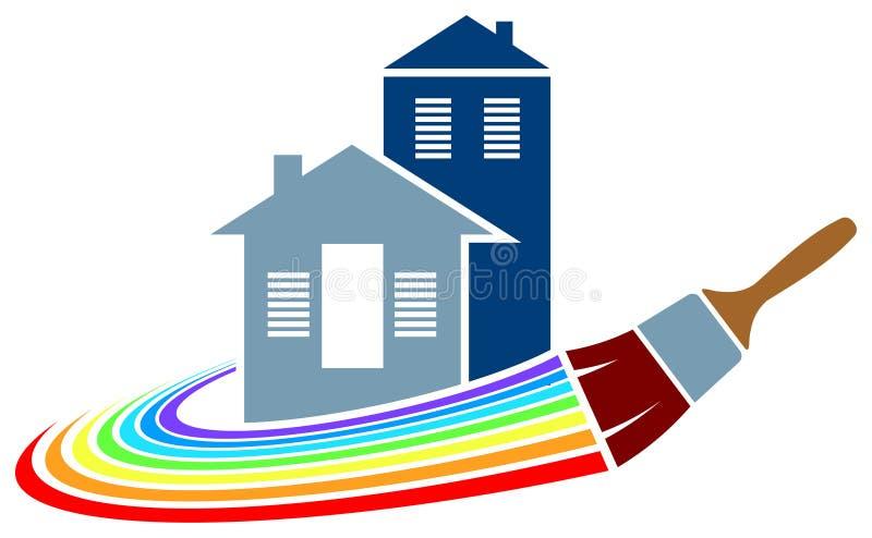Logo för husmålning royaltyfri bild