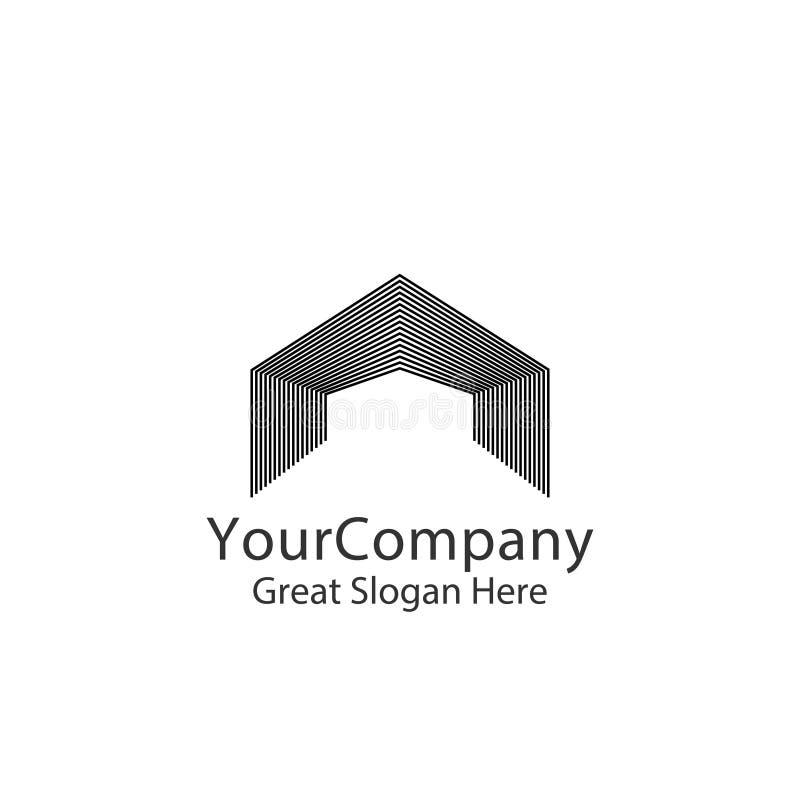 logo för ingångsdörr för hem eller fastighet Abstrakt bokstav A port konstruktion, dörröppningssymbol Linjärt idérikt monokromt m vektor illustrationer