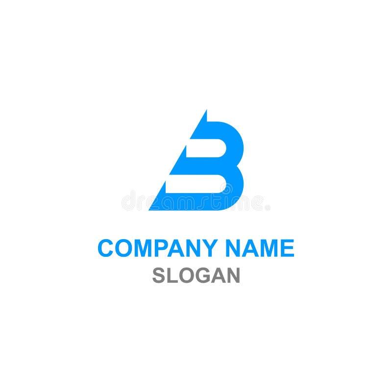 Logo för initial bokstav för b-pil royaltyfri illustrationer