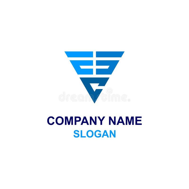 Logo för initial för triangelESC-bokstav stock illustrationer