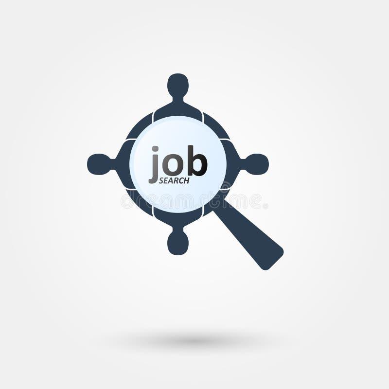 Logo 4 för jobbsökande vektor illustrationer