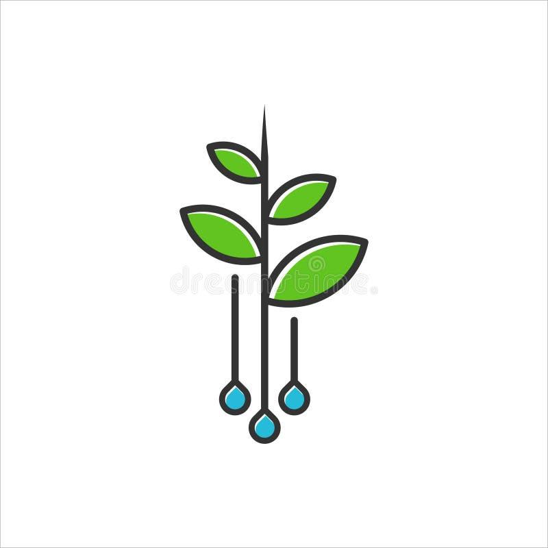 Logo för jordbruks- royaltyfri illustrationer