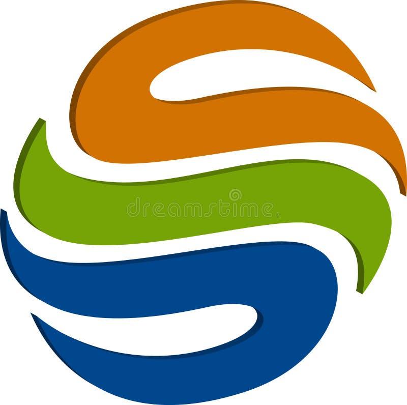 logo för jordklot 3d royaltyfri illustrationer