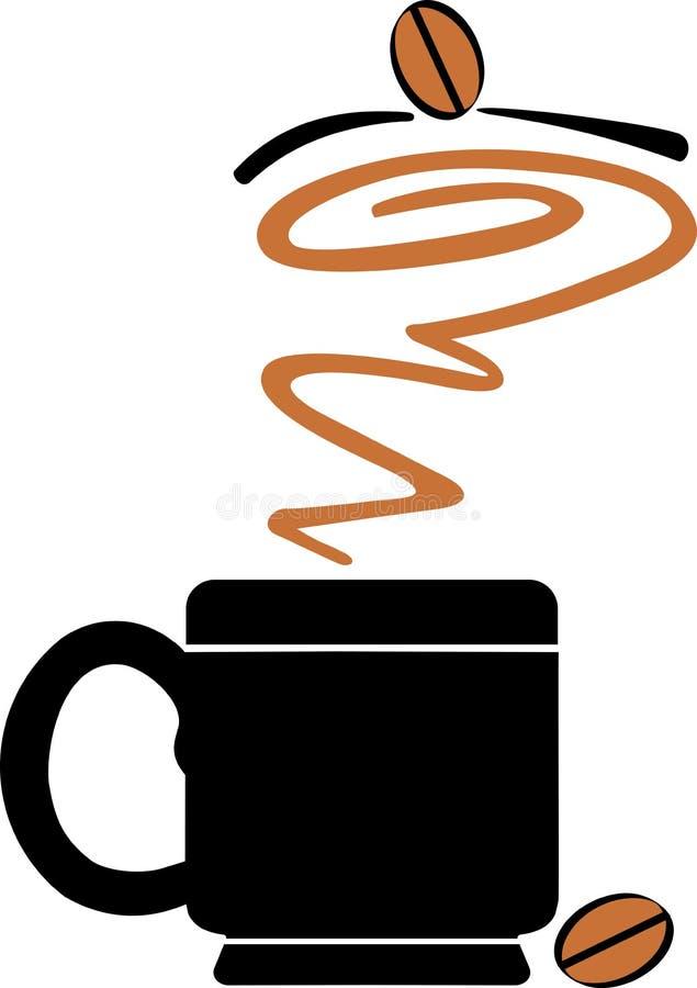 Logo för kaffekopp stock illustrationer
