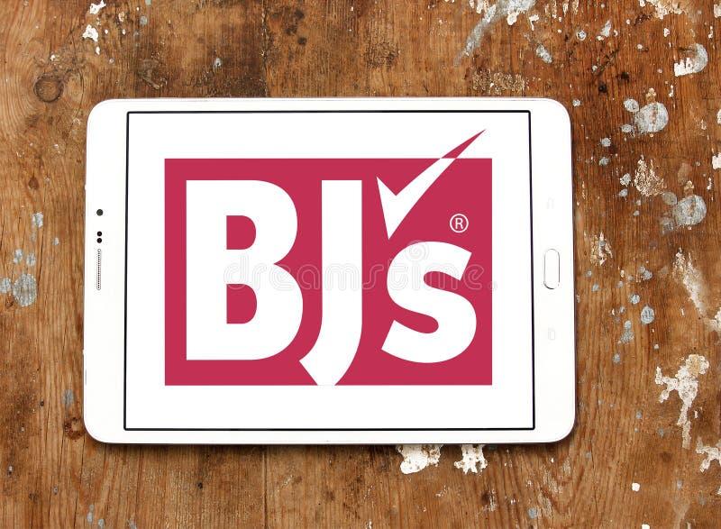 Logo för klubba för grossist för BJ-` s arkivfoto