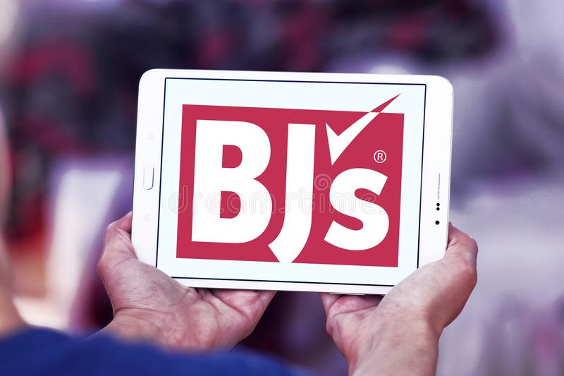 Logo för klubba för grossist för BJ-` s royaltyfria foton