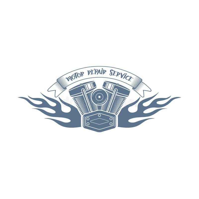Logo för klubba för monokromma vektorcyklister tävlings-; motorcykelklubbabadg vektor illustrationer