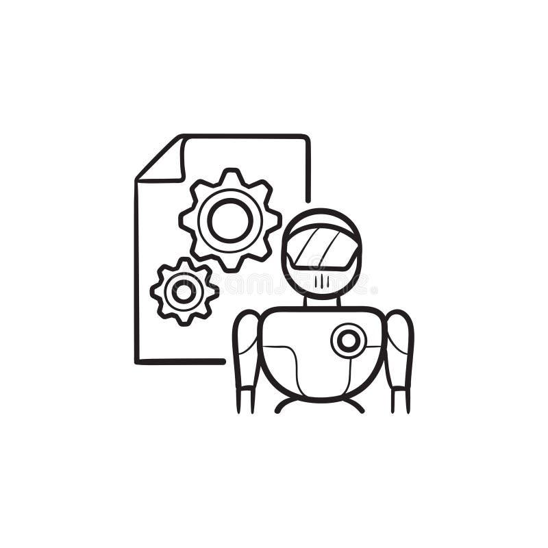 Logo för konstgjord intelligens stock illustrationer