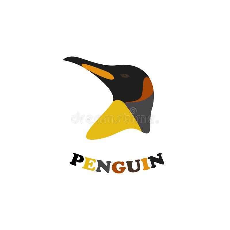 Logo för konungpingvin royaltyfri illustrationer