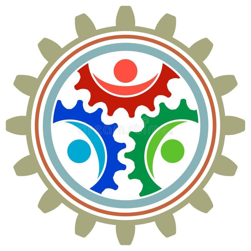 Logo för kugghjulhjul vektor illustrationer