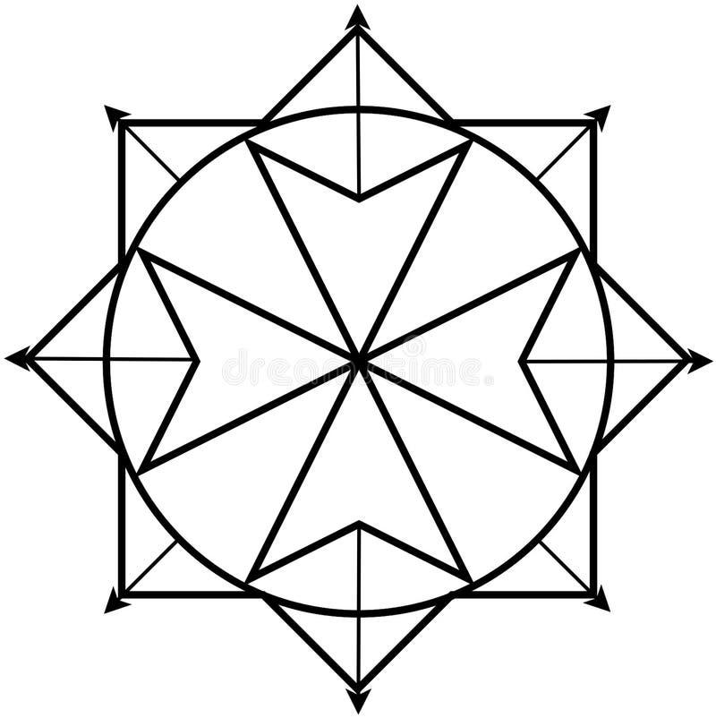 Logo för kvantfysik royaltyfri illustrationer