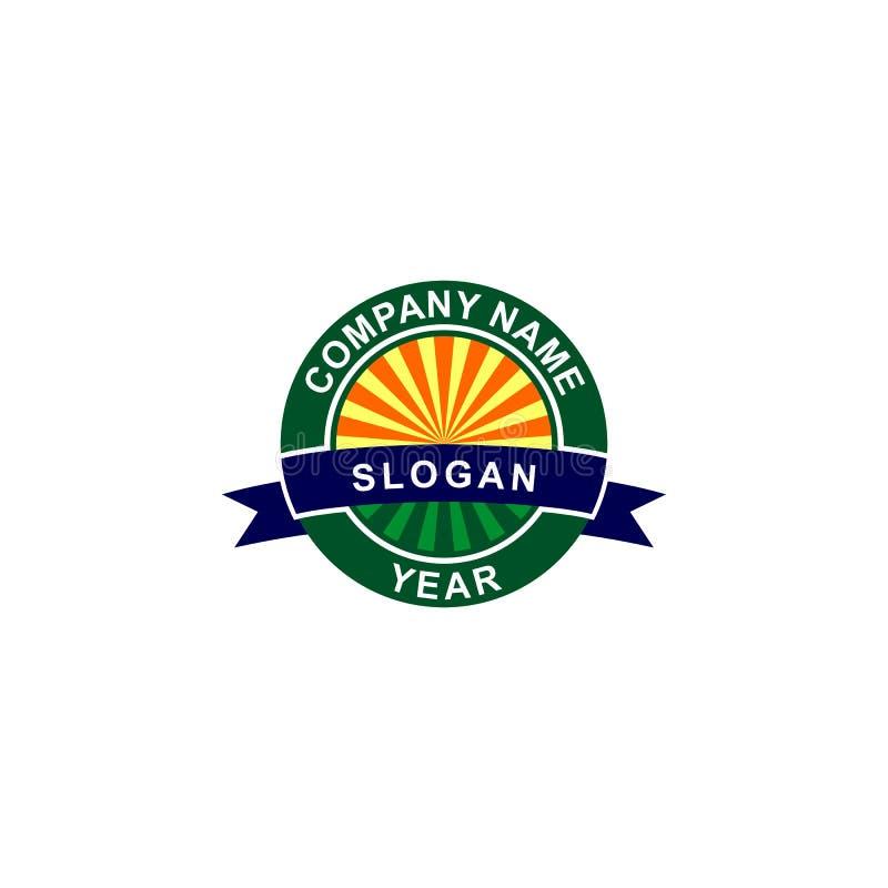 Logo för landskapfältemblem royaltyfri illustrationer