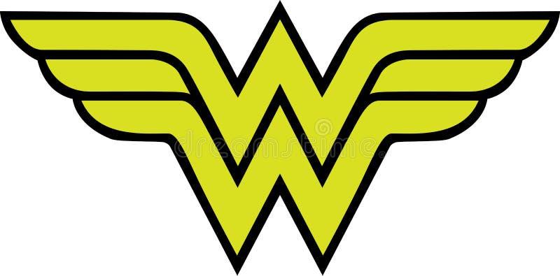 Logo för mirakel- kvinna vektor illustrationer