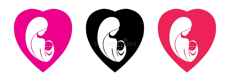 Logo för moderdag stock illustrationer