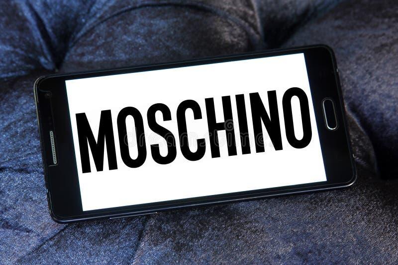 Logo för Moschino modehus arkivfoto