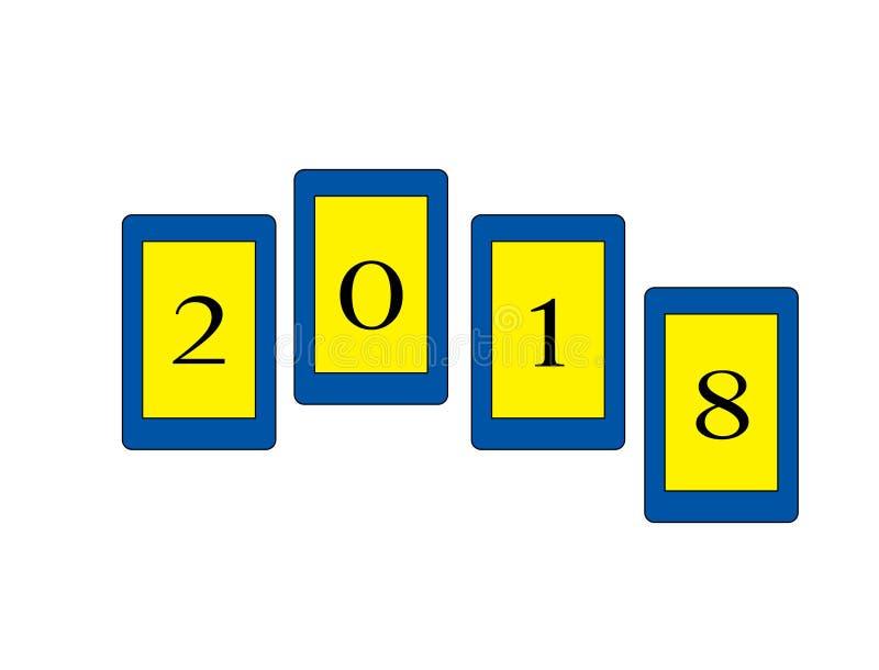 Logo för nytt år royaltyfri illustrationer