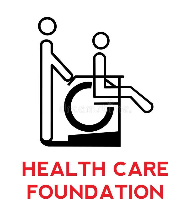 logo för omsorgsfundamenthälsa royaltyfri illustrationer