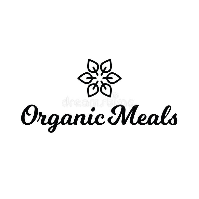 Logo för organisk mat för mål för blommablad sund fotografering för bildbyråer