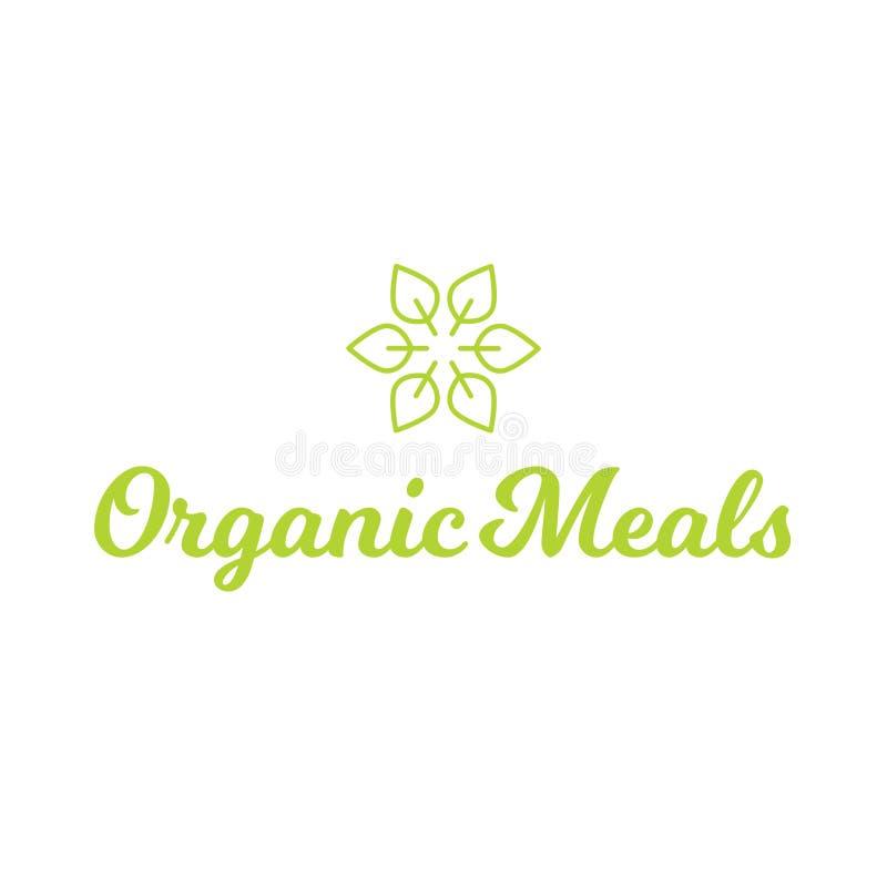 Logo för organisk mat för mål för blommablad sund royaltyfria foton