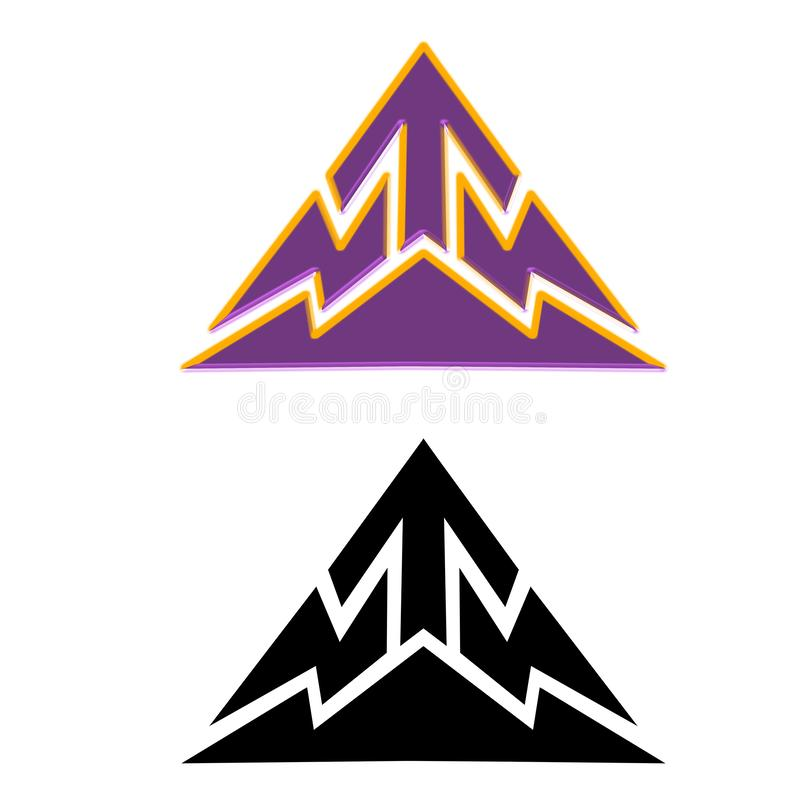 Logo för pil för bergtechnohi tech royaltyfri illustrationer